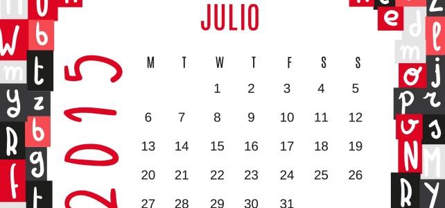 Agenda Julio